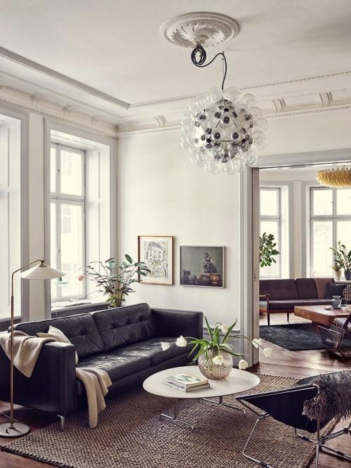 modern mid-century living room